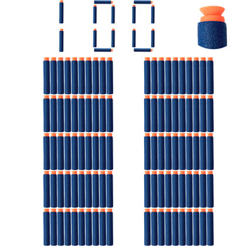 100 pcs/lot Blue Soft Bullet Sucked Head Foam Bullets for Nerf N-strike Elite Series