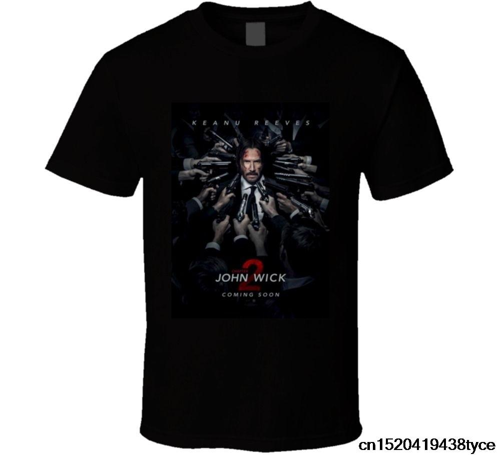 Gildan Algodão T Shirt Camisa Da Forma T John Wick Capítulo 2 está de volta  Ação Filme Cult camiseta O pescoço Adolescente T Shirt em Camisetas de Dos  ... 67e9e5d8f1d38