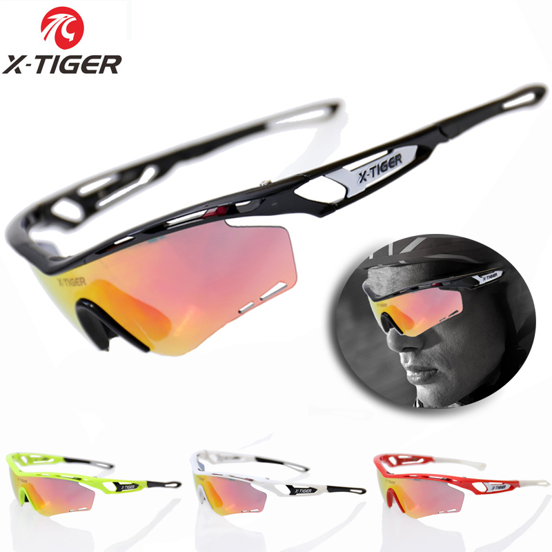 X Tiger Brand Polarized Cycling Sun Glasses Outdoor Sports Bicycle Bike Sunglasses TR90 Goggles Eyewear 5