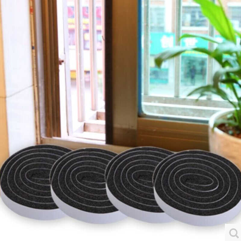 4 Roll Self Adhesive Seal Strip Door Window Sealing Strips Noise Insulation Dust Sealing Tape Wind Dust Blocker Sealer Stopper