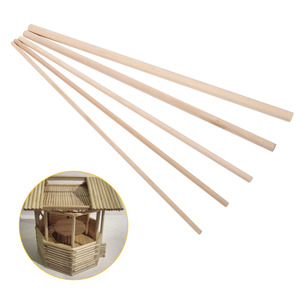 Image 3 - 10pcs 30cm Long DIY Wooden Arts Craft Sticks Dowels Pole Rods Sweet Trees Wood Tool 4mm 10mm