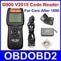 Mais novo V2015 D900 OBD2 EOBD Scanner de Código De Falha de Diagnóstico Do Motor Do Carro Varredura D 900 Scanner De Diagnóstico Versão 2015 Navio Livre