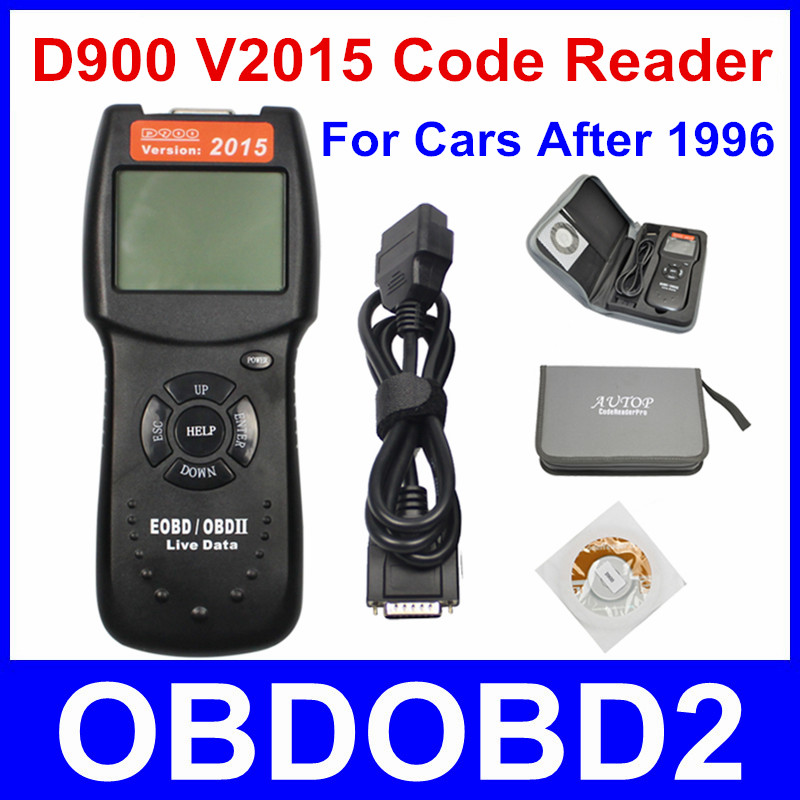 Newest D900 V2015 OBD2 EOBD Car Engine Scanner Diagnostic Fault Code Scan D 900 Diagnostic Scanner 2015 Version Free Ship newest car code readers