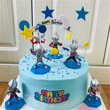 cake toy baby birthday party decorations cupcake toppers child kids children toys super hero gift topper