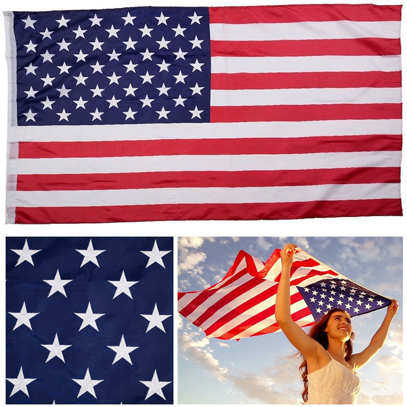 3x5 American Flag w// Grommets For Pole ~ United States Of America ~ USA US