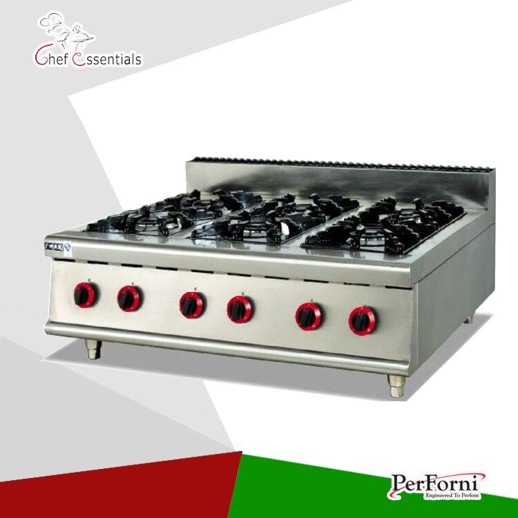 PKJG-GH997.1 6 Burner Gas Range for business kitchen gh2 gas range with 2 burner for commercial use