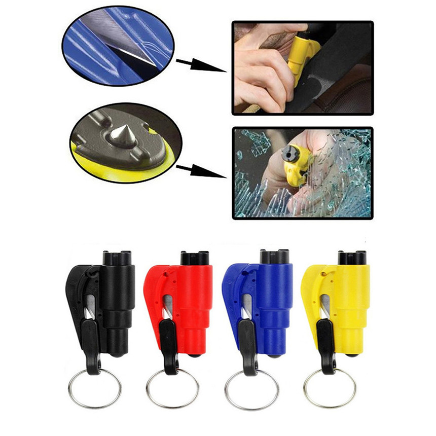 Car-styling 2017 New Car Auto Emergency Mini Safety Hammer Belt Window Breaker Cutter Escape Tool