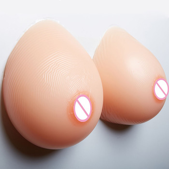 1600g/pair EE cup large transgender fake breast for men transsexual gathered hot silicone rubber boobs