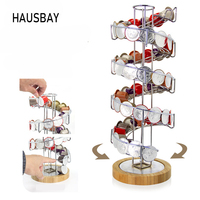 Top Quality Nespresso Coffee Capsule Storage Rack Metal Coffee Pods Holder Iron Chrome Plating Tower Stand Bamboo Base 08153