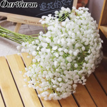 OurWarm 12pcs Babies Breath Artificial Flowers Fake Gypsophila DIY Floral Bouquets Arrangement Wedding Home Garden Party Decor