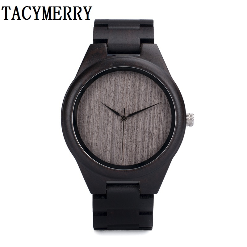 Black Sandalwood Watch For Men With Japan 2035 MIYOTA Movement Wristwatch In A Idea Box For Christmas Gift