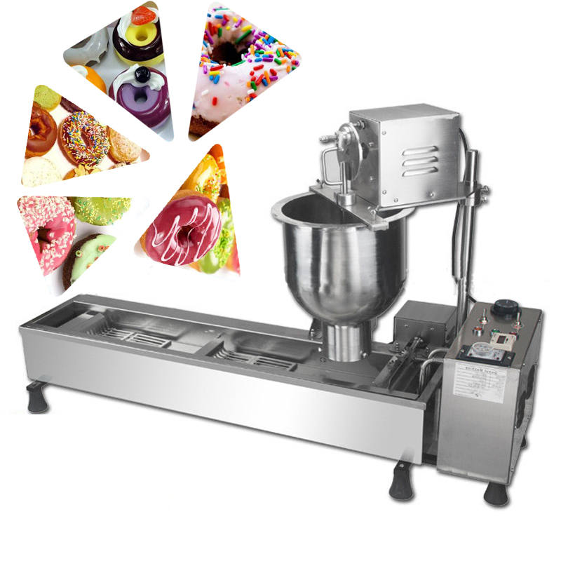 Fully-automatic multi-function donut machine commercial use High quality stainless steel Donut making machine 90mm big size donut waffle machine automatic electric mini commercial donut making machines