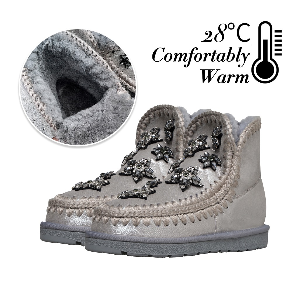 Women Boots Winter Super Warm Wool Fur Snow Boots Women Ankle Boots For Female Winter Shoes Girls Botas Mujer Shoes Woman