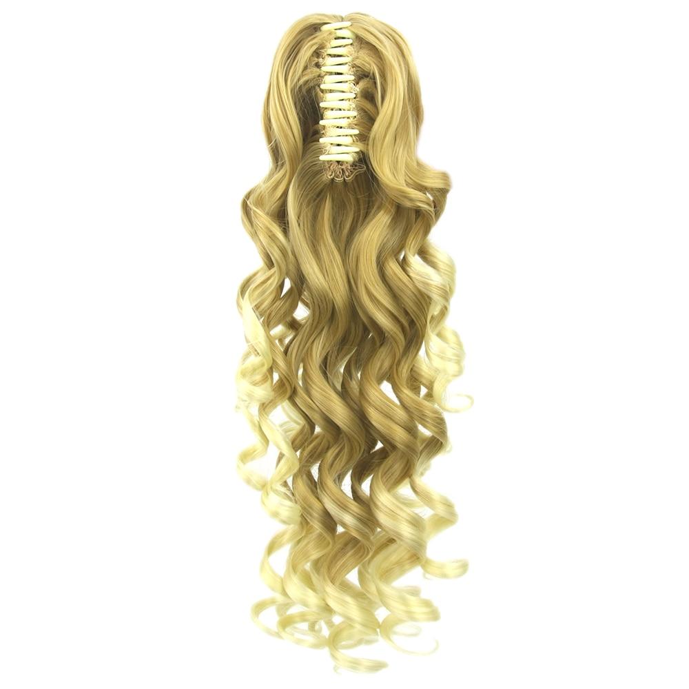 Soowee 5 Farben Lange Braun Blonde Wellig Clip In Haarverlängerungen Pferdeschwanz Hochtemperaturfaser Synthetische Haar Pferdeschwanz Klaue Von Der Konsumierenden öFfentlichkeit Hoch Gelobt Und GeschäTzt Zu Werden Synthetische Haarverlängerung