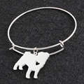 No Fade Silver Pud Dog DIY Openning Bracelet Bangle Femme Pulseras Mujer Pet/Dog Bracelets & Bangles for Women/Men Jewelry