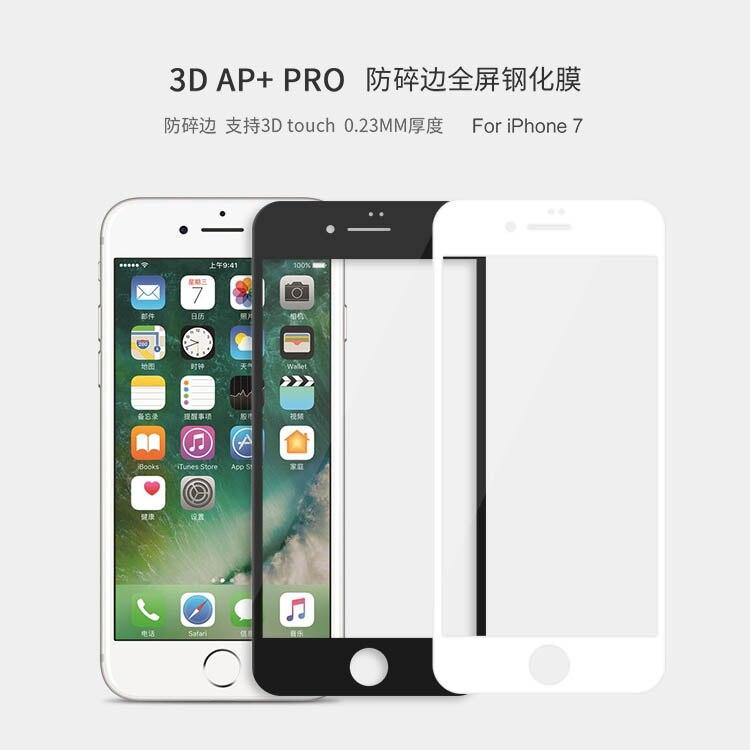imágenes para Arco 3d 0.23mm totalmente cubierta nillkin ap + pro anti-explosión de cristal templado protector de pantalla para apple iphone 7 iphone7 (4.7 pulgadas)