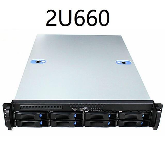 2U660mm 8 disk hot swappable 19 дюймовая стойка, корпус сервера, промышленное компьютерное хранилище, Интернет кафе, чехол для компьютера