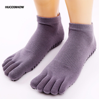 Women Gym Dance Sport Cycling Five Fingers Sock Anti Slip Massage Fitness Exercise Running Yoga Cotton Antibacterial Toes Socks