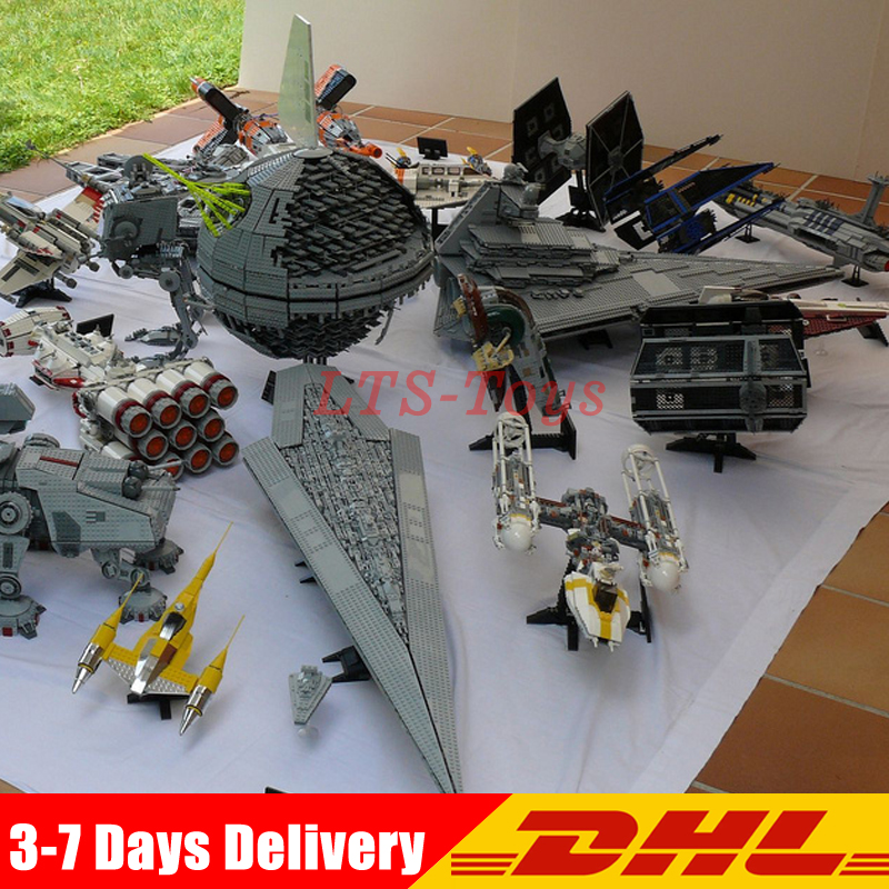 DHL LEPIN Star War UCS Millennium Falcon 05007 05026 05027 05028 05033 05034 05036 05041 05039 05040 05045 05132 Building Blocks 2018 dhl lepin star series war 05007 05033 05132 building blocks bricks model toys compatible 75105 10179 75192 gifts