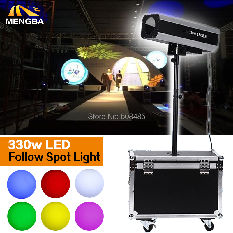 Power 330w LED Follow Spot Light With Flight Case For Wedding/Theater Performance/party litewinsune 330w led spot follow lighting performance stage lighting