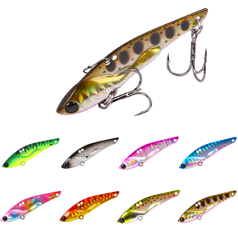Trulinoya High Quality Metal Vib Lures Fishing VIB Lure 50mm 7g Sinking Artificial Vibrator Bass Bait free shipping trulinoya ray frog style soft plastic fishing lure bait green