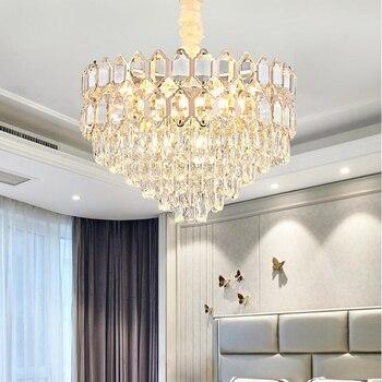 新アメリカクリスタルシャンデリアモダンなリビングルームの照明高級ロビー装飾 Led ライト