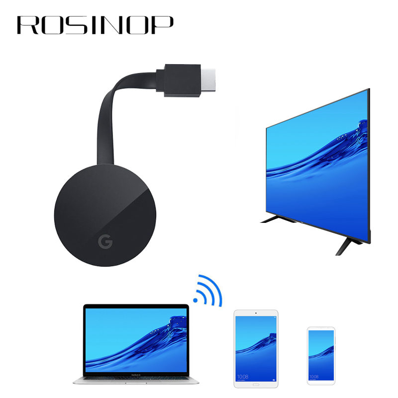 Rosinop 1080P HDMI Wireless Adaptador Bluetooth Receiver Audio Miracast USB Bluetooth Transmitter For 4K TV Headphone Projector