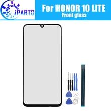Pour Huawei Honor 10 LITE avant verre lentille décran 100% Original avant écran tactile verre lentille extérieure pour Honor 10 LITE téléphone + outils
