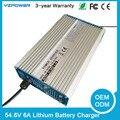 Caixa De Alumínio 54.6 V 6A Carregador De Bateria de Lítio Carregador rápido Para 48 V Ferramenta de Energia Elétrica Da Bateria Li-ion