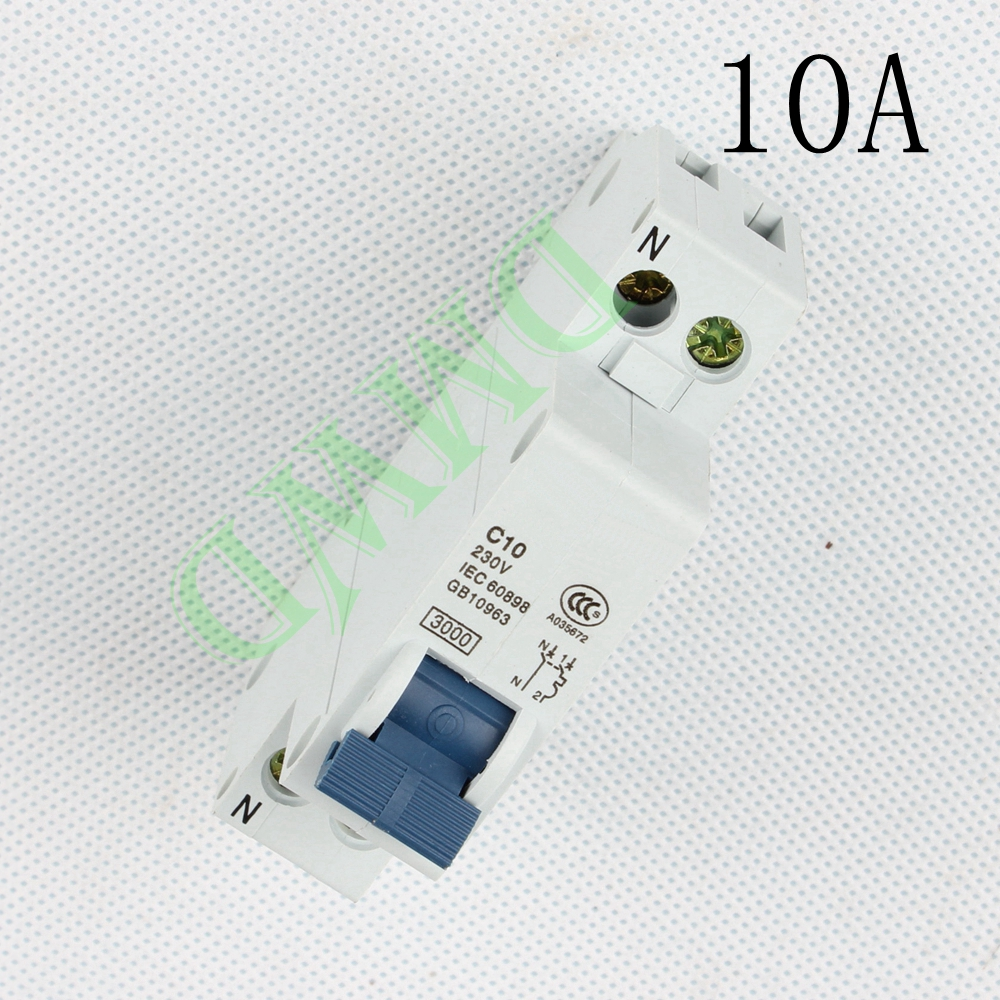 Mini Circuit breaker DMWD DPN mini DZ30-32 1P+N 10A 220V 230V 50HZ 60HZ Residual Current Circuit Breaker RCBO