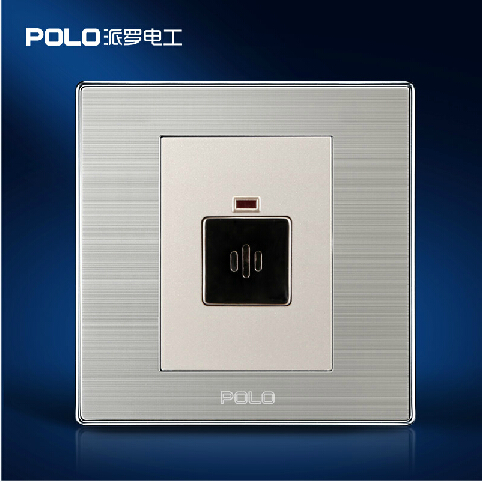 Wholesale POLO Luxury Wall Switch, Light Switch,Sound and Light Control Time Delay Switch,Champagne / Black Color, AC 110~250V