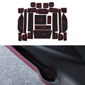 23 pçs/set car styling sulco ranhura pad porta interior almofada de látex mat anti-slip para honda odyssey 2009-2014 interno dedicado