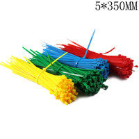 5*350mm Self-Locking Nylon Cable Ties 100Pcs/Pack Colorful Cable Zip Tie Loop Ties For Wires