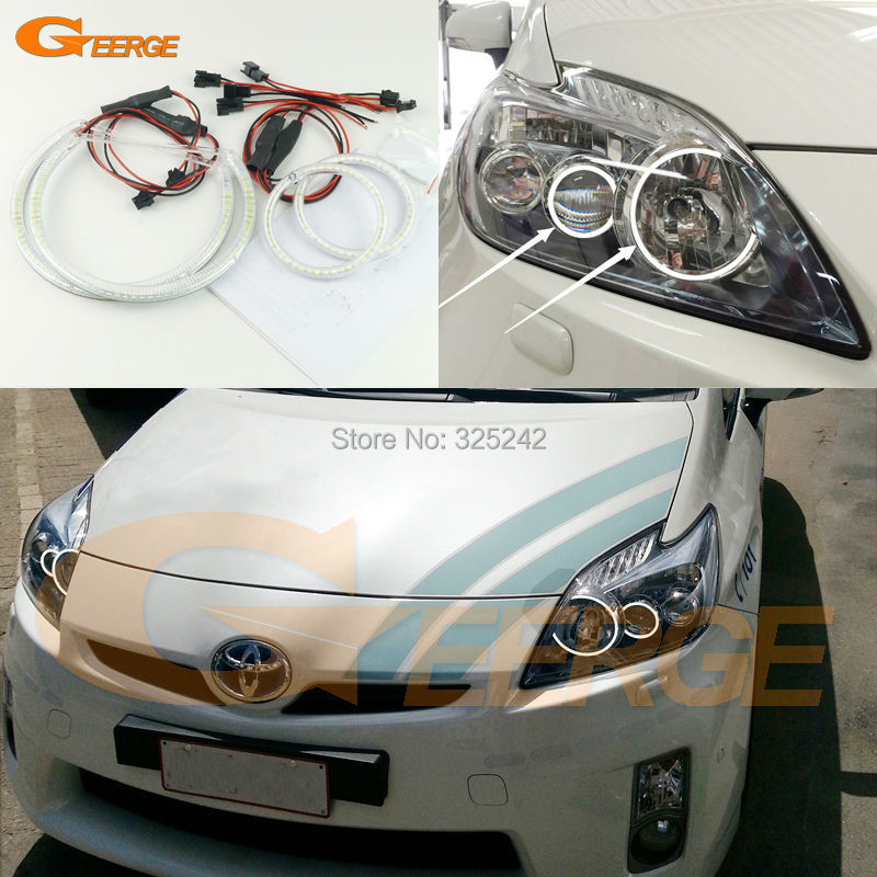 For Toyota Prius 2012 2013 2014 2015 LED XENON HEADLIGHT Excellent Ultra bright illumination smd led Angel Eyes Halo Ring kit bigbang 2012 bigbang live concert alive tour in seoul release date 2013 01 10 kpop