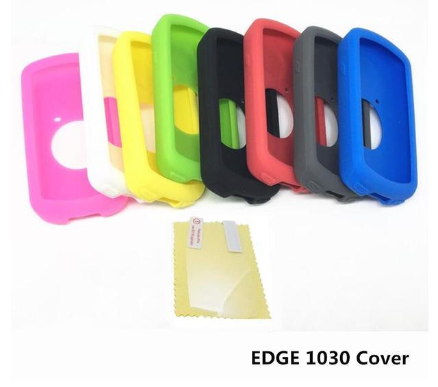 Funda protectora de goma de silicona de ordenador 1030 Borde de ciclismo al aire libre + Protector de película de pantalla LCD para Garmin Edge 1030
