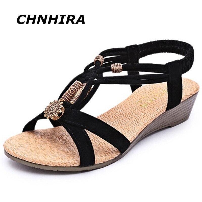 2017 summer fashion white shoes flat heel flip gladiator