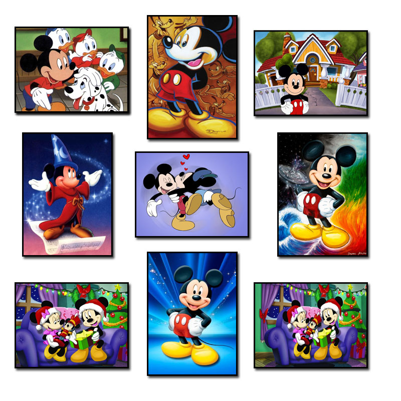 DIY 5D Diamante Mosaico Pintura Diamante Cross Stitch Mickey Mouse Kit Diamantes Bordados Quadrados Broca de Decoração Para Casa