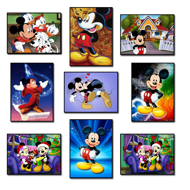 8d11713cc1 DIY 5D Diamond Mosaic Diamond Painting Cross Stitch Mickey Mouse Kit  Diamonds Embroidery Square Drill Home Decoration