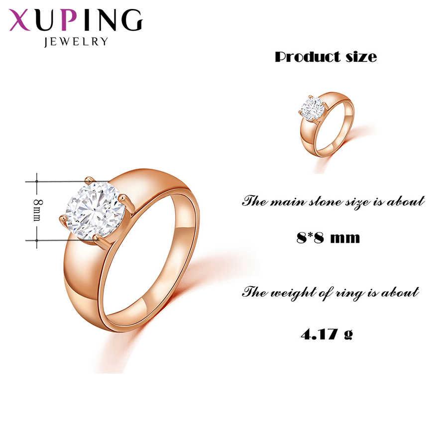 Xuping модные украшения женское кольцо уникальный красивый розовое золото цвет покрытием кольца для женщин День святого Валентина подарки 12838
