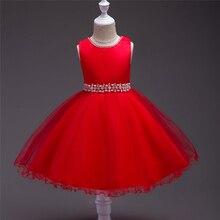 Âge 0 1 2 3 4 5 6 7 8 Ans Bébé Fille Robe 2018 Enfants Élégant Soirée Princesse Robe Solide Rouge Rose Violet Mignon Enfants Vêtements
