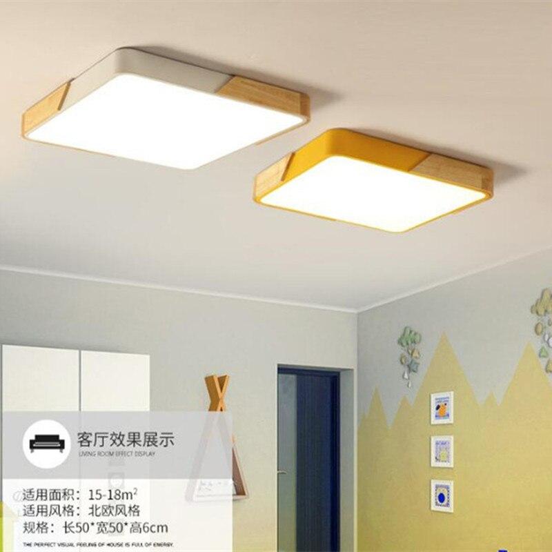 Nordic Ultra-dünne Mehrfarbige LED Decke Lampe Moderne Büro Leuchten Holz Küche Schlafzimmer Decke Licht Leuchte