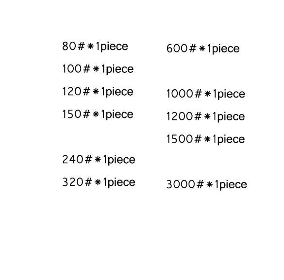 80-3000 зернистость 11 штук Apex pro точилка для карандашей точильный камень супер тонкий жернова, система Точилки 150*20*5 мм - Цвет: 11 pieces