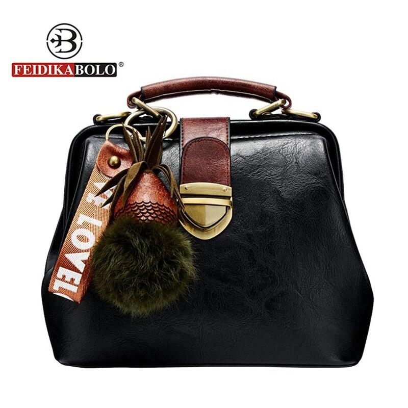 Fashion Brand Crossbody Bags For Women Shell Totes Bags With Plush Ball Women High Quailty Flap Ladies Zipper HandBags New 2018 4pcs new for ball uff bes m18mg noc80b s04g