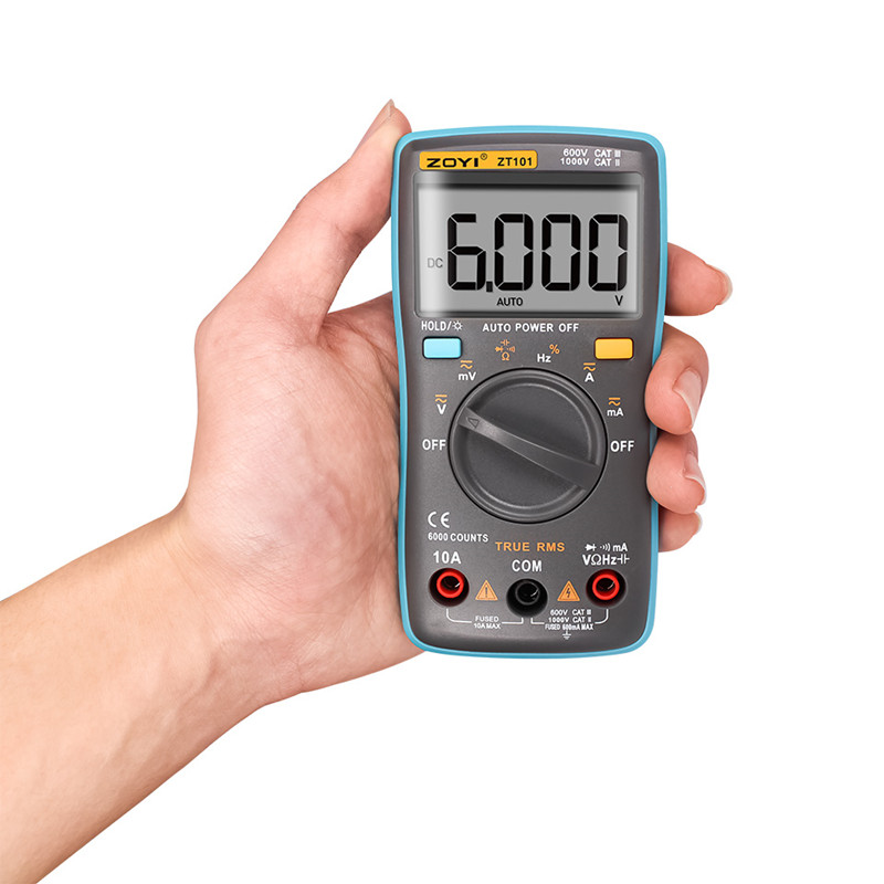 Digital Multimeter 6000 counts Backlight AC/DC Ammeter Voltmeter Ohm Portable Meter voltage meter ZT101 купить недорого в Москве