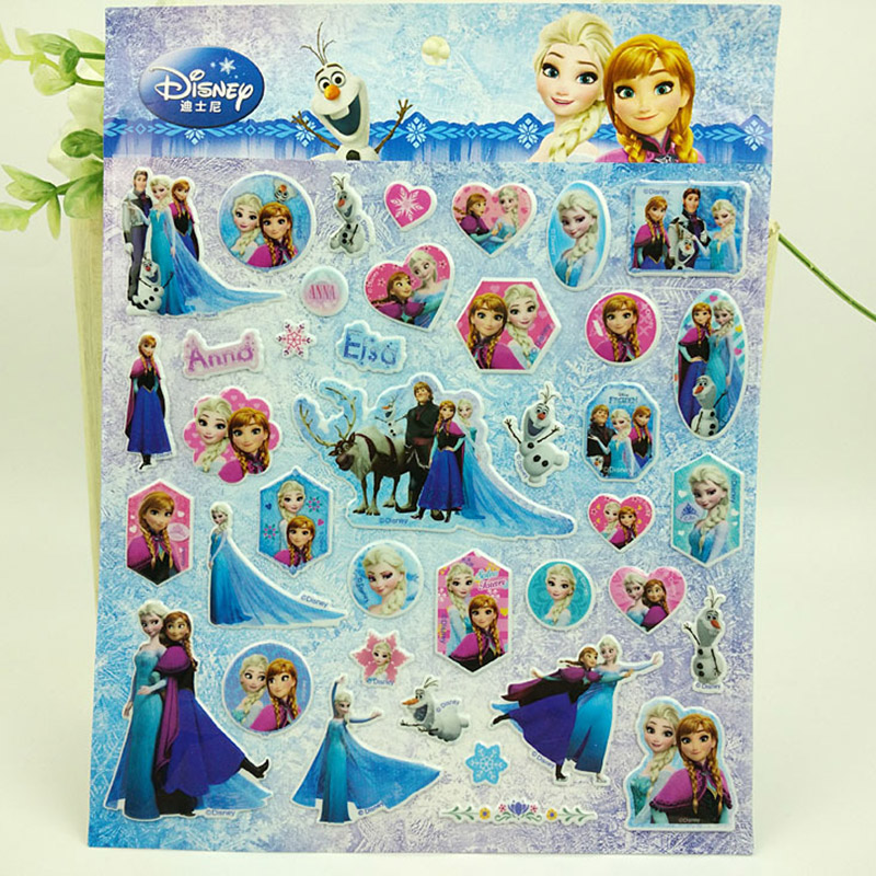 DISNEY frozen elsa and Anna Sticker  car Sofia  Mickey Classic Toys  3D Sticker