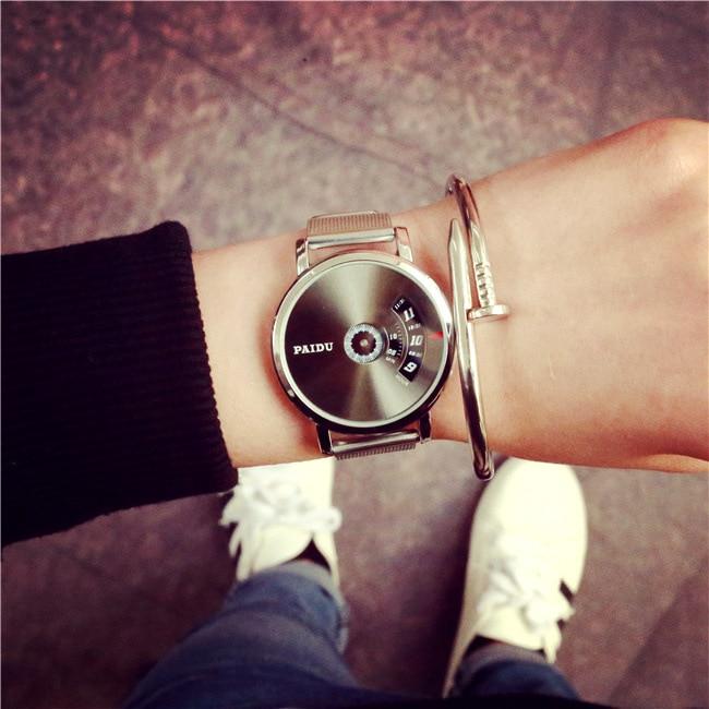 Fashion Top Luxury Brand Watches Men Stainless Steel Mesh Strap Quartz-Watch Ultra Thin Dial Clock Man Relogio Masculino AA062
