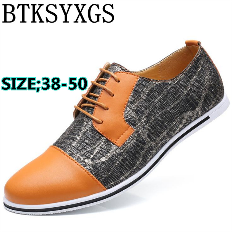 BTKSYXGS 2017 Men's flats casual shoes leather fashion comfortable breathable spelt color Woven Men shoes BIG SIZE 38-50 COLOR 4 top brand high quality genuine leather casual men shoes cow suede comfortable loafers soft breathable shoes men flats warm