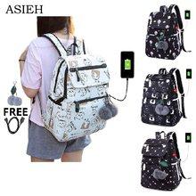 188e37250bd Nieuwe Aankomst Student Schooltassen voor Meisjes Multi Functie Laptop School  Rugzak vrouwen USB waterdichte nylon rugzakken tas.