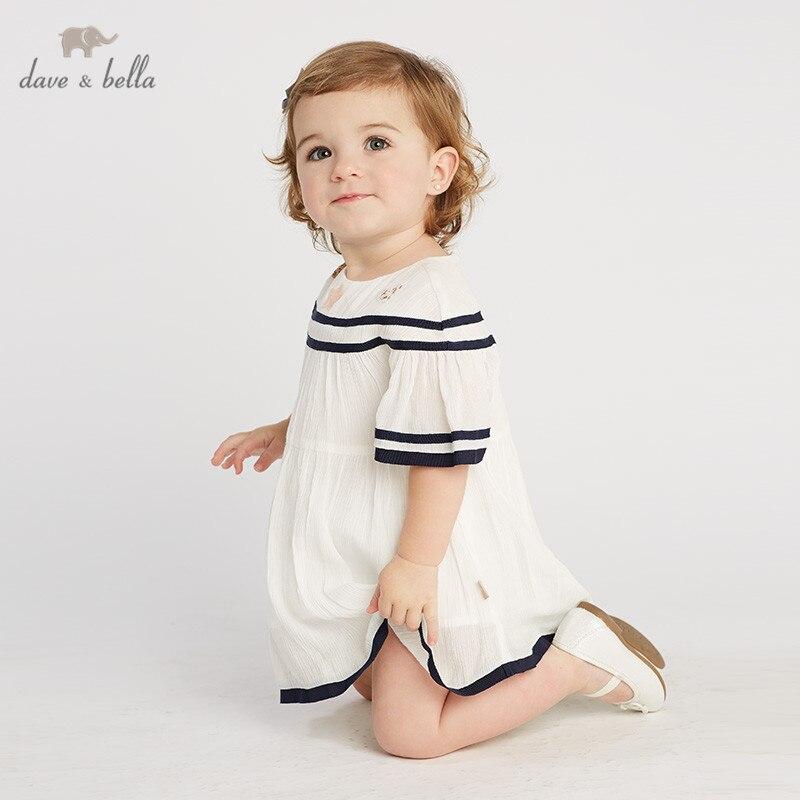 DB10213 dave bella summer baby girl s princess cute dress children party fashion dress kids infant
