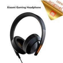 Original xiaomi mi gaming headset 7.1 virtual surround fones de ouvido 3.5mm com microfone cancelamento ruído para computador portátil ps4 telefone